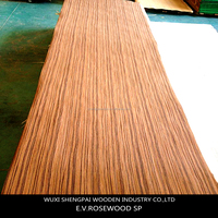 artificial rosewood veneer /thin brick vene used import natural wood for decorative furniture ,door,floor,wall recon face sheets