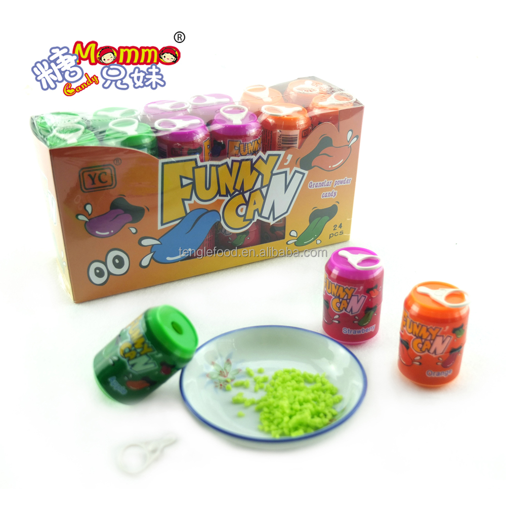VC-075 funny can fruit pressed candy