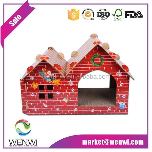 Colorful Cardboard Pet House Cat House
