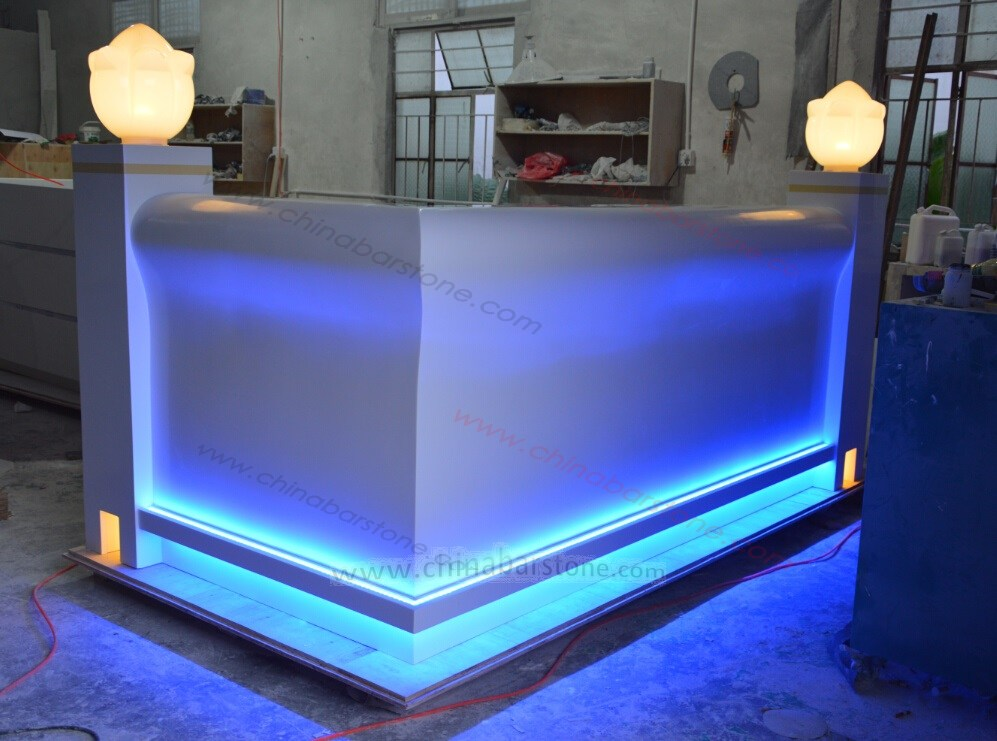 High End Beauty Salon Reception Counter small