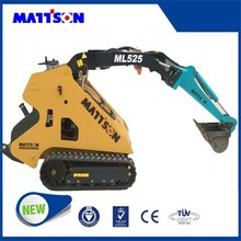 Australia popular Mattson ML526W WHEEL LOADER mini skid steer loader 26 hp diesel engine with 4 in 1 bucket