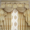 100% polyester embroidery window curtains fabric