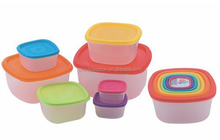 stackable plastic kitchen food storage container box set with lid