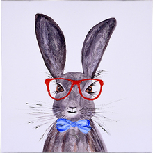 TAOYE Easter Sunglasses Bow Bunny Cute Animal Home Art Decorative Wall 3D Oil Painting