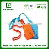 hot sales mobile/cell phone neck hanging bag, mobile phone holder lanyard for promotional