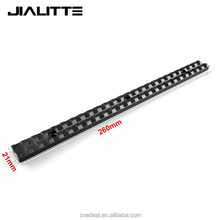 Jialitte Tactical 260mm Picatinny Weaver Rail Mount Base Plane Bottom 20mm For Hunting DIY 25 Slots Tactical Scope Mount J043