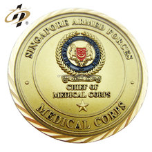 2016 hot products zinc alloy embossed enamel medallion Singapore gold challenge coin for souvenir