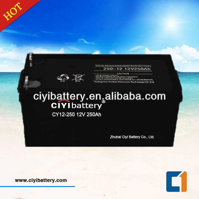 Solar System Battery Deep Cycle Battery 12v 250ah