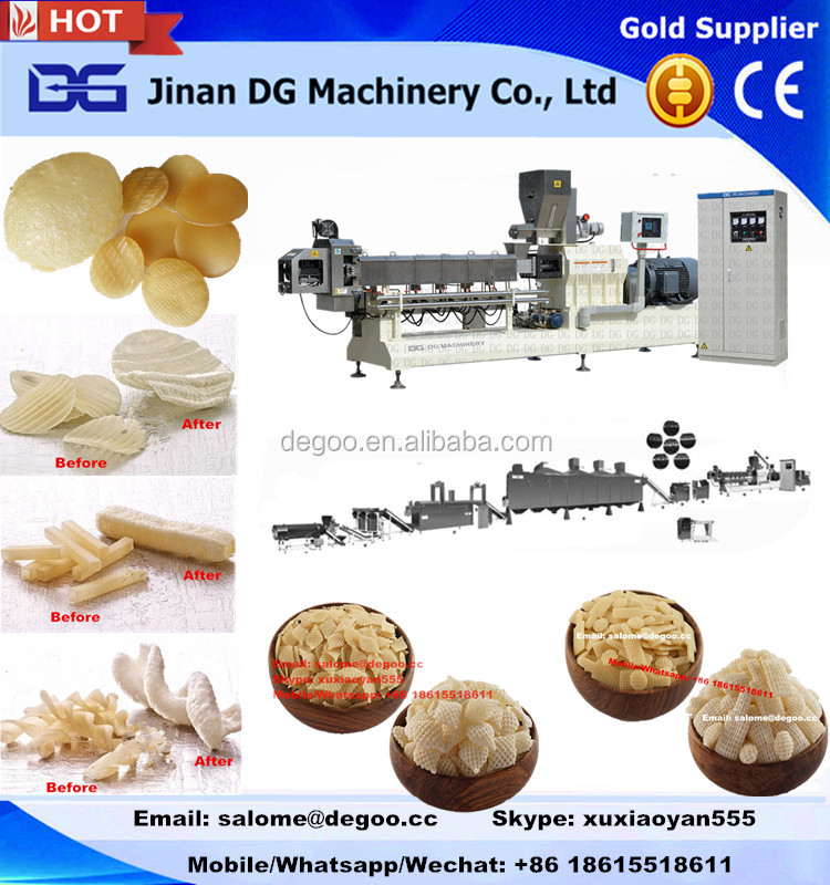 Hot sale Twist snack potato pellets making machine/potato chips/corn sncak food processing extruder
