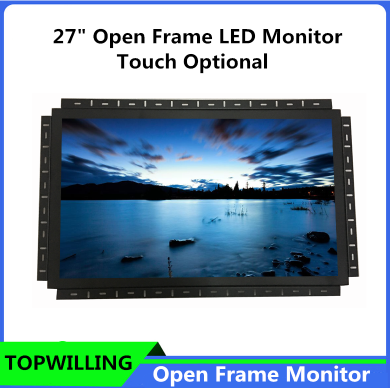 "TOPWILLING OP27 Open Frame Monitor 27"" Monitor for Kiosk,AD Player"