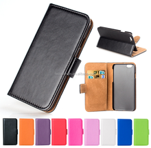 Wholesale cheap price for iphone 6s leather wallet case flip cover case with stand holder
