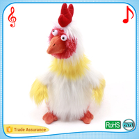 Safety material lovely dancing and singing chick customized songs plush musical toys
