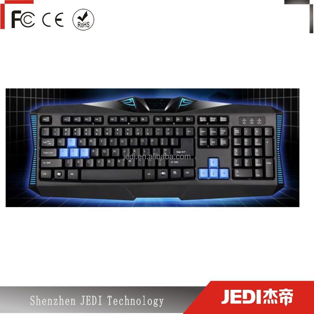 2015 professional wired usb mechanical gaming keyboard with LED light