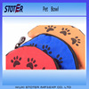 Folding Type Polyester Pet food bowl for Travelling use