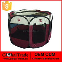 8 Octagonal Pet Playpen Dog Cat Puppy Pig Play Pen New Dark Brown Soft Cages 450077