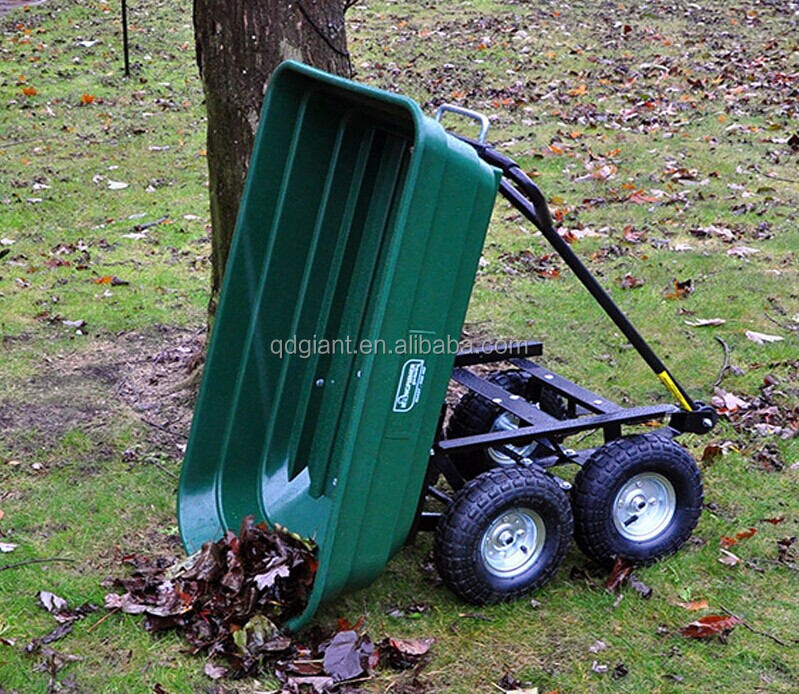 multifunctional plastic 4 wheel garden dump trailer TC4253