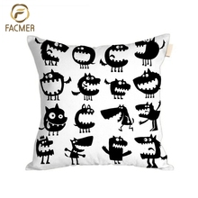2018 Latest Design Digital Printed decorative Cushion Cover monster collection throw Pillow Case Cover