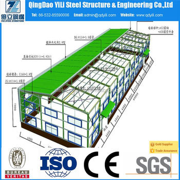 galvanized steel building frame made in China