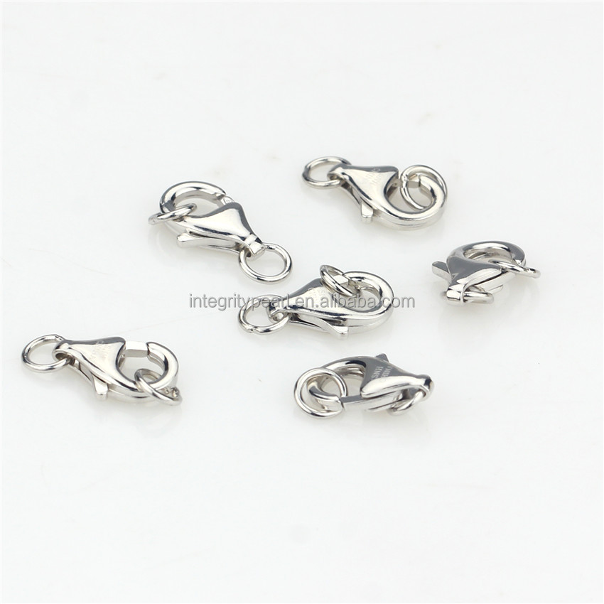 SNH 13mm 100% 925 sterling silver lobster clasp for jewelry wholesale
