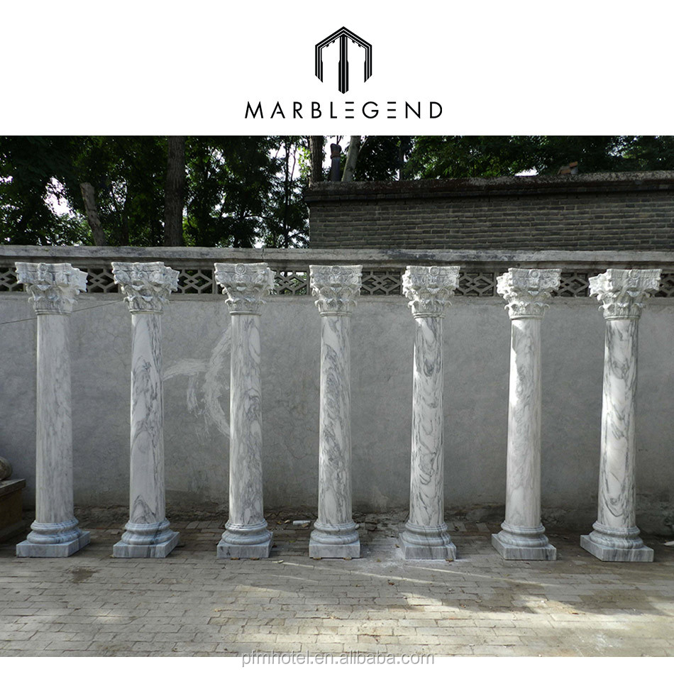 PFM pillars marble stone column base and cap