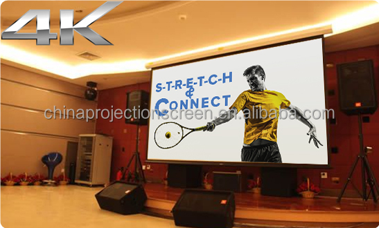 Wall Mount Office Matte White Electric Motorized Projection Screen