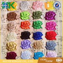 Wholesale embroidery rose flower patch veil decoration sew on iron on appliques
