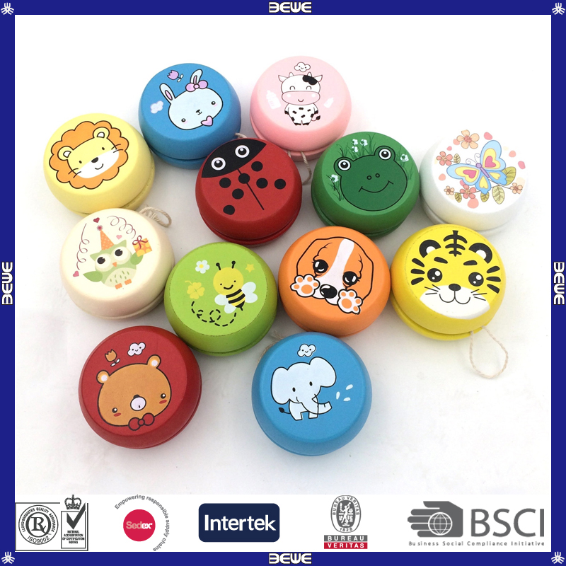 Colorful Printing Best Price Wooden YoYo Balls