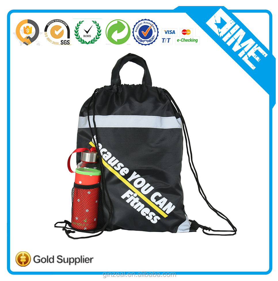Cheap Sports Polyester Gym Sack Drawstring Bag