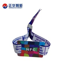13.56MHz festival fabric passive rfid wristband from factory
