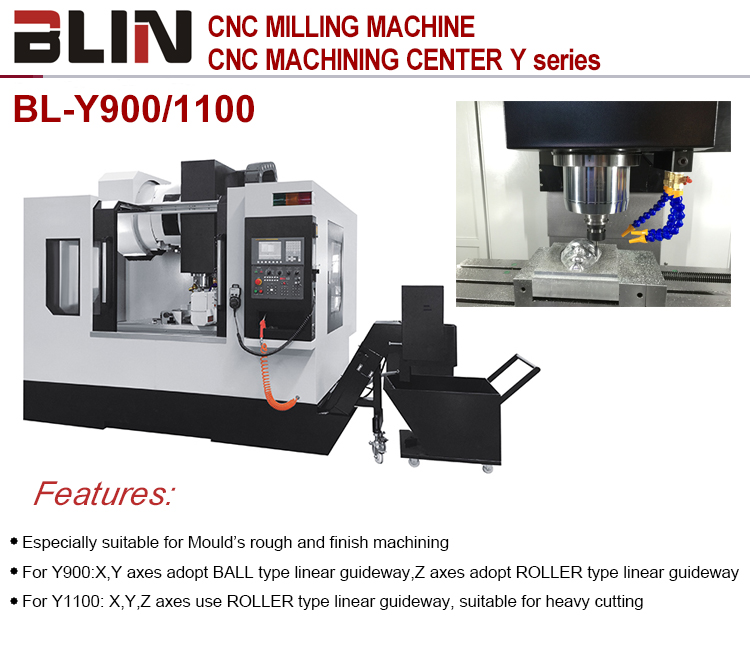 Fanuc 5 axis vmc cnc 4 axis machine center milling machine wegstr price(BL-Y900/1100)