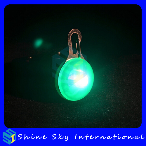 Factory wholesale bone shape led pendant, led flashing light for pet, pet store dog harness pattern