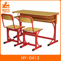 HY-0413 school desk dimensions 1200*400*750mm