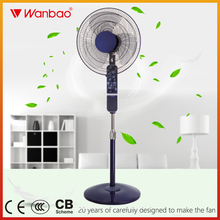 High quality 16 inch pedestal stand remote fan air cooler fan with LED light
