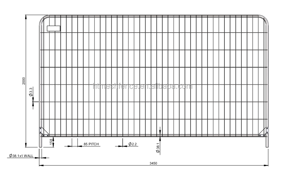 Anti-Climb range of temporary fence panels fence hire round topped heavy duty anti -climb fence