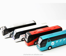 Wholesale alloy miniature 1:43 diecast metal bus model custom made