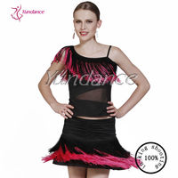 AB014 Cheap Wholesale Latin Practice Skirt,Dance Women Dresses Red Fringe