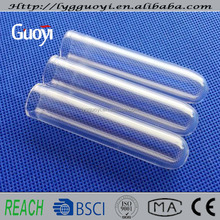 Dia.15mm thickness 1mm heat resistant clear quartz glass measuring test tube for sale