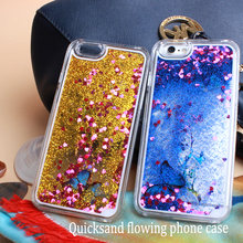 Clear PC/TPU Quicksand Flowing Phone Case Cover For Smart Phone Customizable