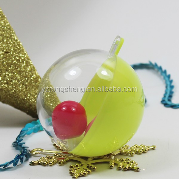 Fashionable Amazing Opening Christmas balls,openable transparent plastic balls,decorate openable transparent plastic balls