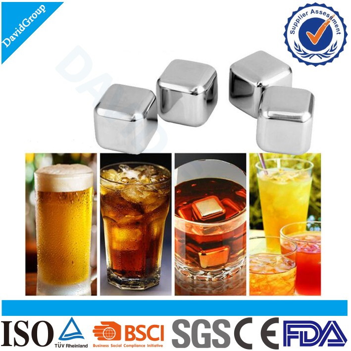Wholesale Customized Whiskey Stones&reusable Stainless Steel Whiskey Stones&dice Ice Cube Whiskey Stones