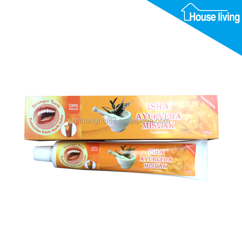 100% natural herbal miswak whitening toothpaste indian import / fluoride free toothpaste brands