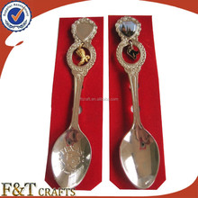 New desgin high quality Blank nickle paster spoon/souvenir items