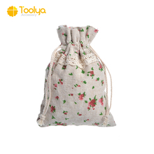 Fashion cheap reusable grocery canvas drawstring bag for gift packing bag