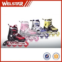Factory Price Leading Technology In-line Skating Shoes for Both Children and Adult PU/Laser Wheels