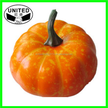Decorative Fake Foam Artificial fruits and vegetables of pumpkin