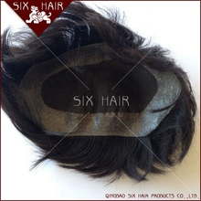 real virgin human hair piece toupee/ hair wigs for men price