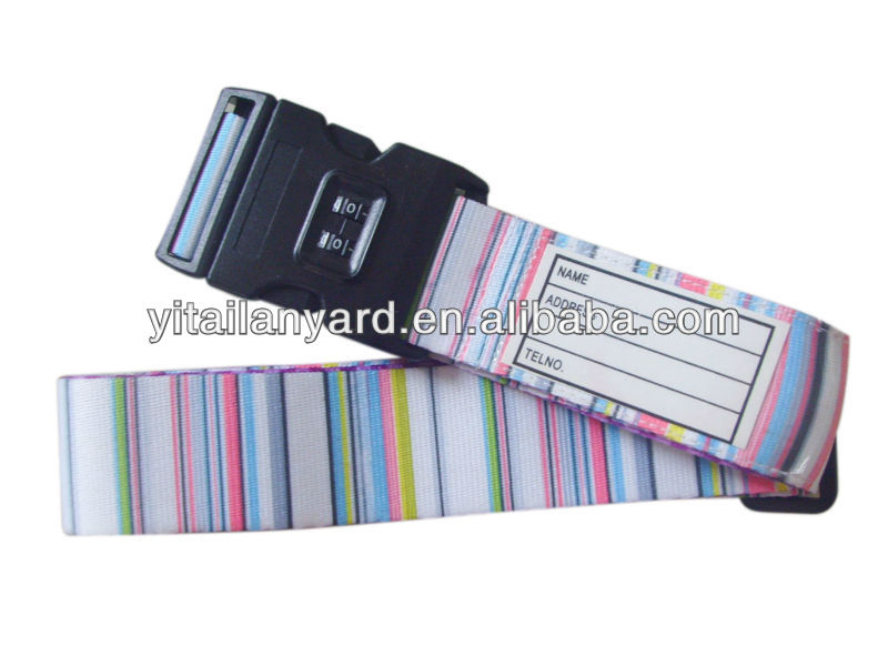 2013 hot sale fashion luggage belt with name tage