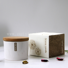 Wholesale Candle In China For Scented Candle In Ceramic jar With Lid And Nice Candle Box