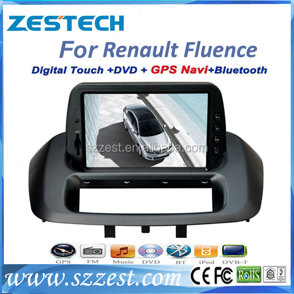 Car stereo support dvd player/gps navigation/audio system for renault fluence car dvd player with gps navigation