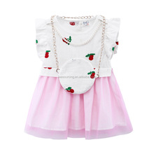 Fashion ruffle design small girl dress teenage girls baby girls dress
